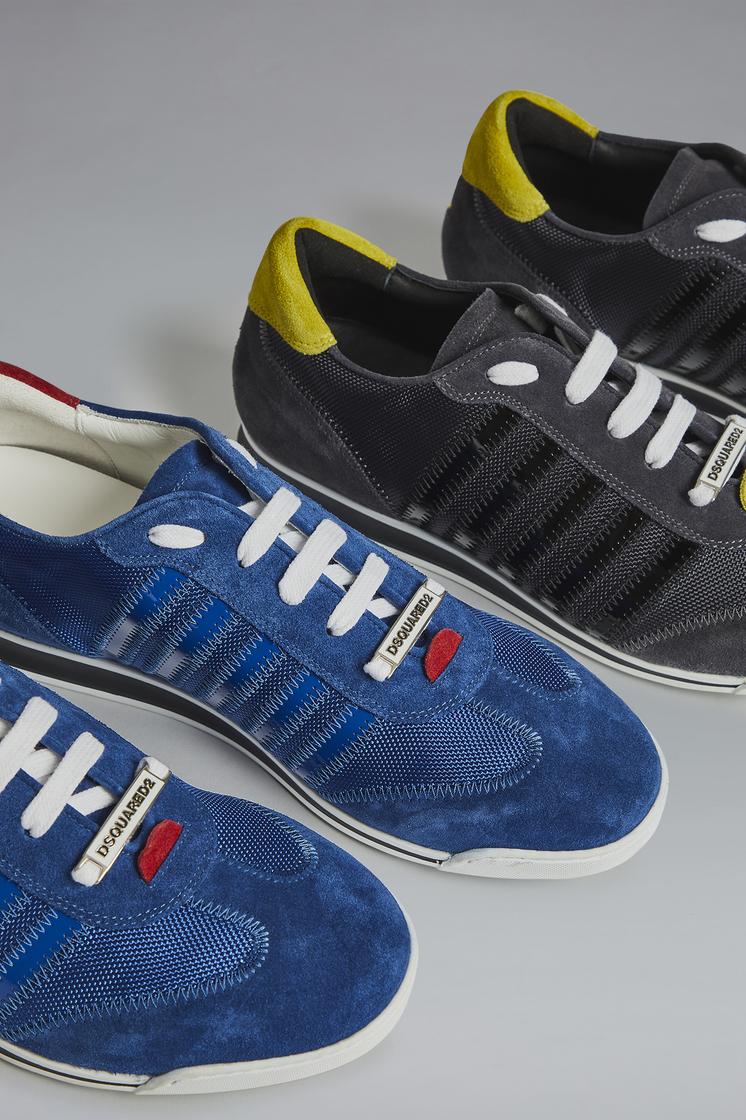 DSQUARED2 Red & Black Punk New Runner Sneakers Sneaker Man