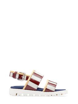 Marni Two-tone calfskin sandal Woman