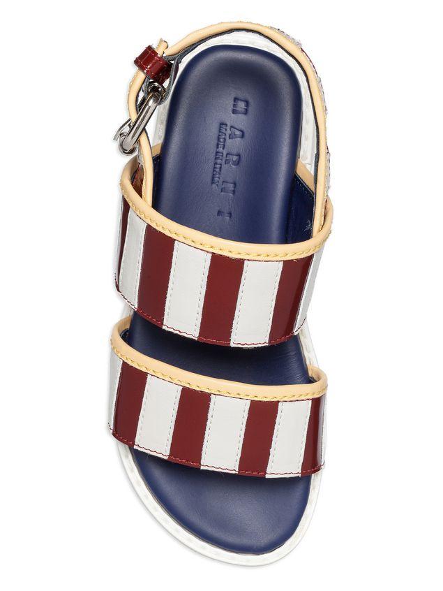 Marni Two-tone calfskin sandal Woman - 4