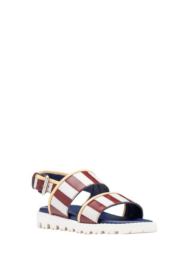 Marni Two-tone calfskin sandal Woman - 2