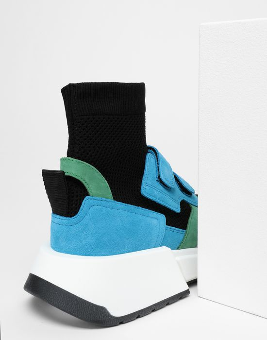 MM6 MAISON MARGIELA Sock runner leather sneakers Sneakers [*** pickupInStoreShipping_info ***] a