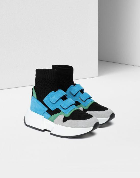 MM6 MAISON MARGIELA Sock runner leather sneakers Sneakers [*** pickupInStoreShipping_info ***] r