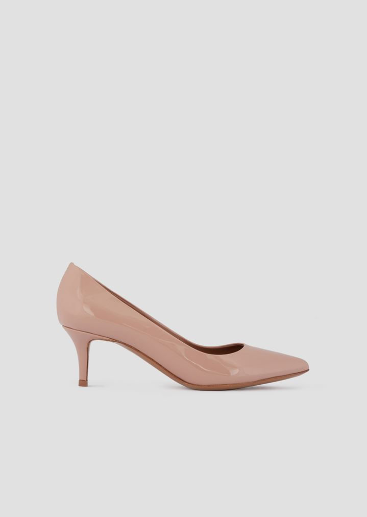 1d83367a34 Kitten heel court shoes in patent leather | Woman | Emporio Armani