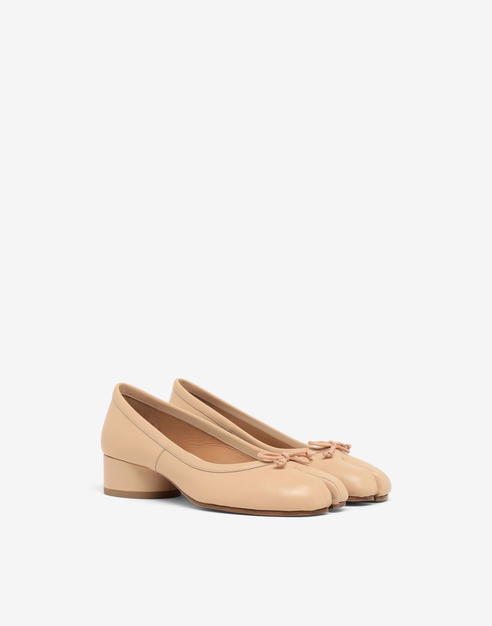 MAISON MARGIELA Tabi leather ballerina pumps Ballet flats Woman r