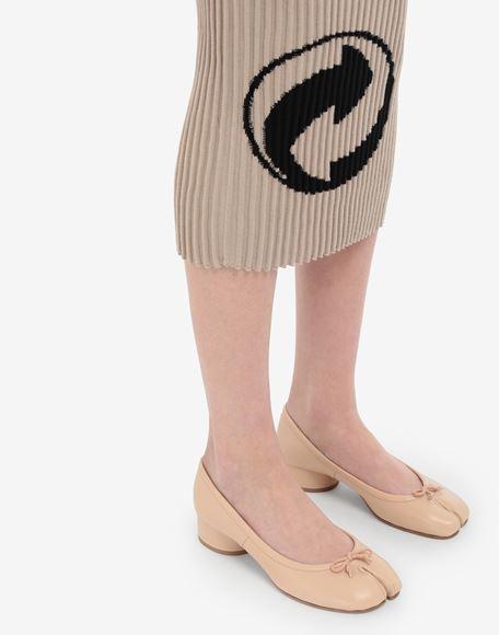 MAISON MARGIELA Кожаные балетки Tabi на каблуках Балетки Для Женщин b
