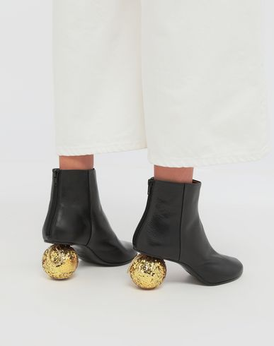 SHOES Christmas ball-heeled ankle boots Black