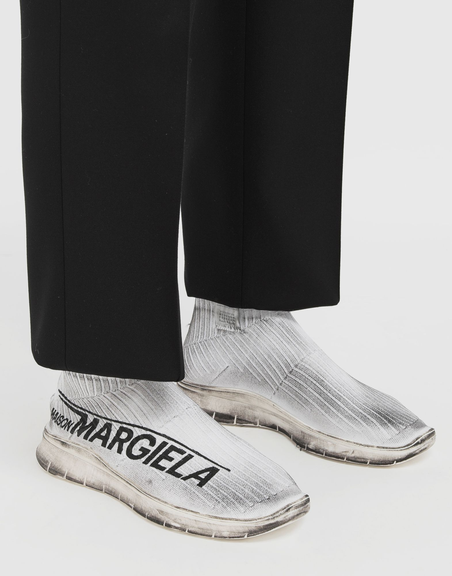 MAISON MARGIELA Dirty Treatment low top sock runners Sneakers Man b