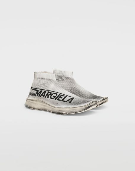 MAISON MARGIELA Dirty Treatment low top sock runners Sneakers Man r