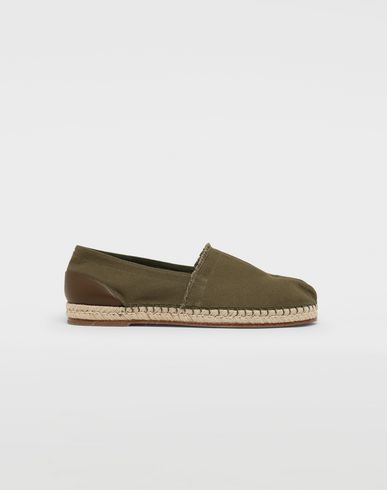 SHOES Tabi cotton espadrilles Military green