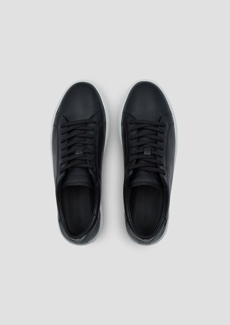 Sneakers in nappa leather with logo at the back