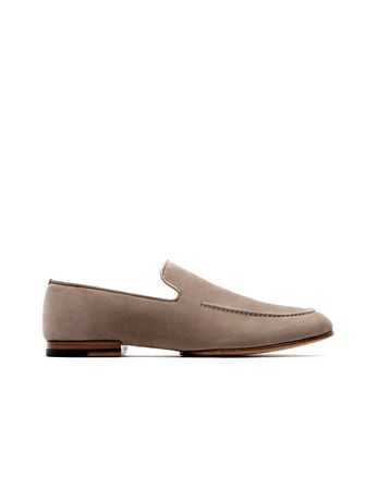 Beige Suede Loafer