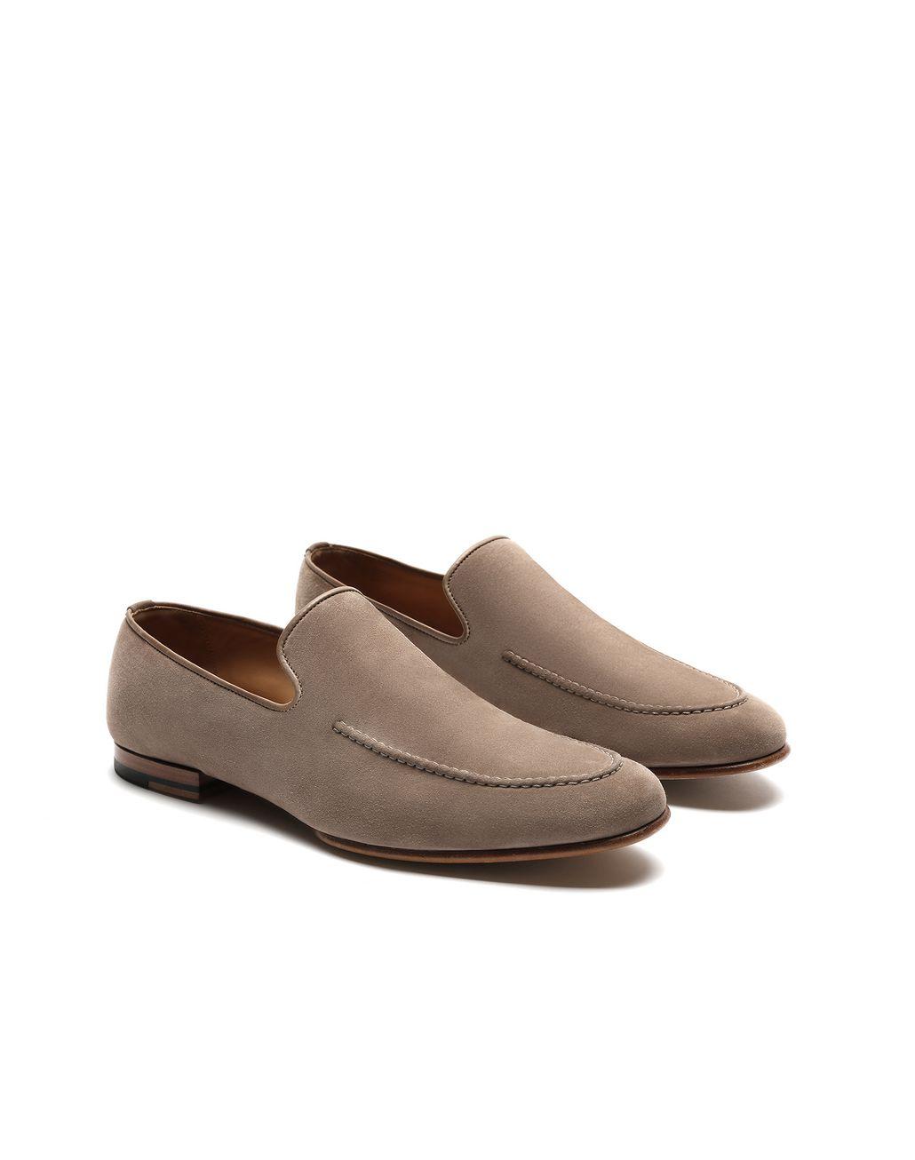 BRIONI Beige Suede Loafer Formal shoes [*** pickupInStoreShippingNotGuaranteed_info ***] d