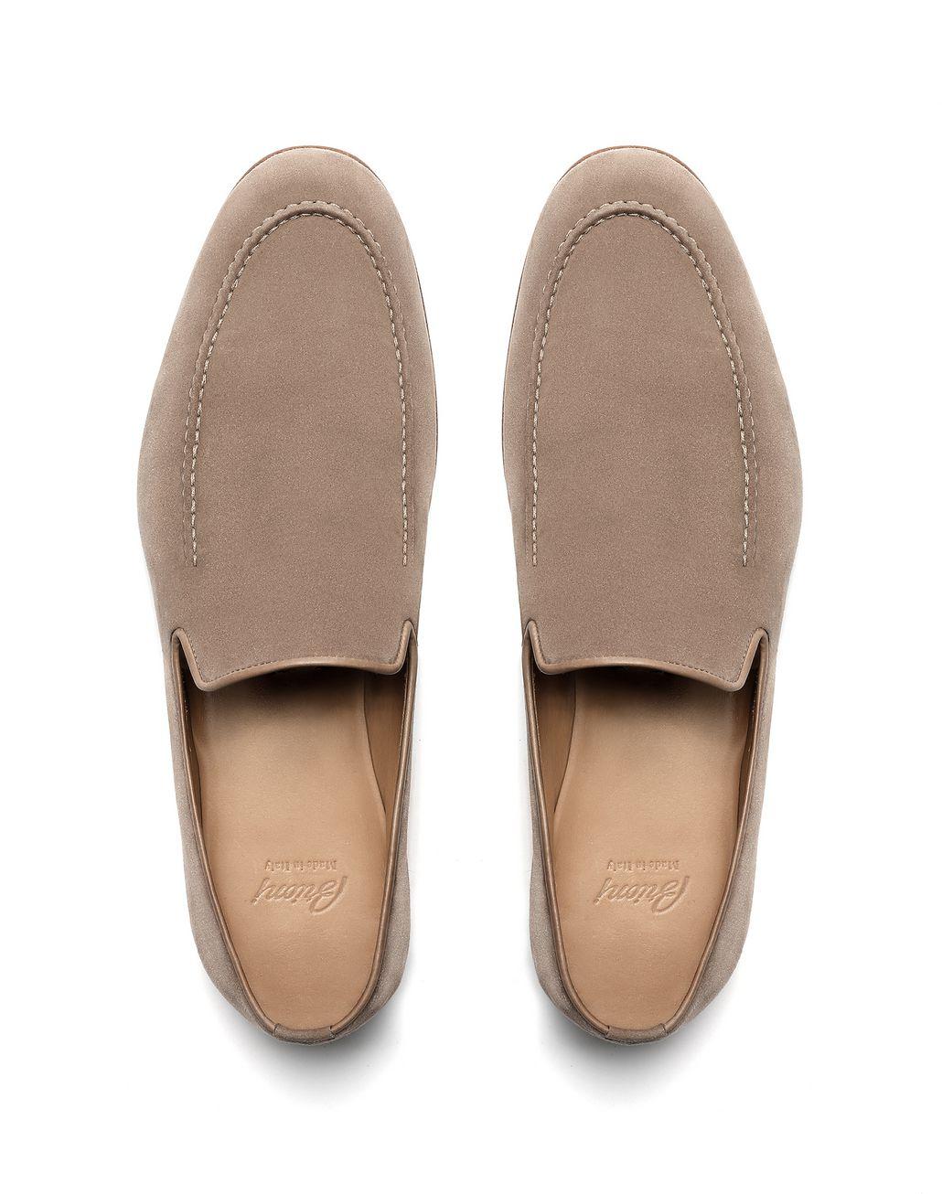 BRIONI Graue Loafers aus Wildleder Elegante Schuhe [*** pickupInStoreShippingNotGuaranteed_info ***] r