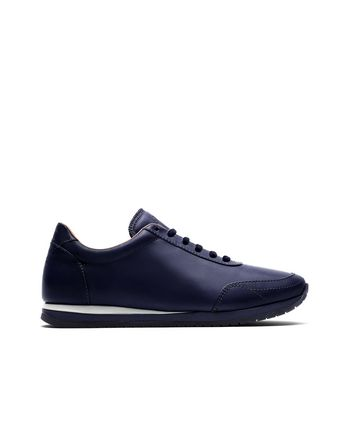 Navy Blue and White Runner Sneakers