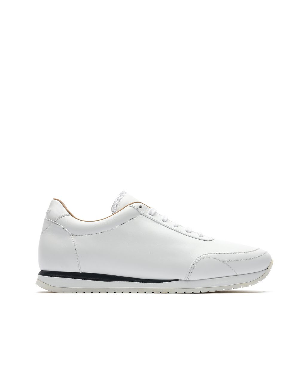 BRIONI White and Navy Blue Runner Sneakers Sneakers [*** pickupInStoreShippingNotGuaranteed_info ***] f