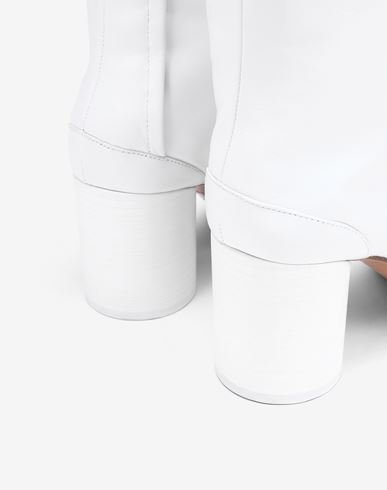 SHOES Tabi calfskin boots White