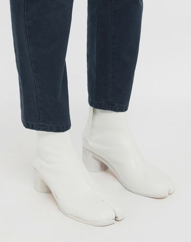 SHOES Painted calfskin Tabi boots White