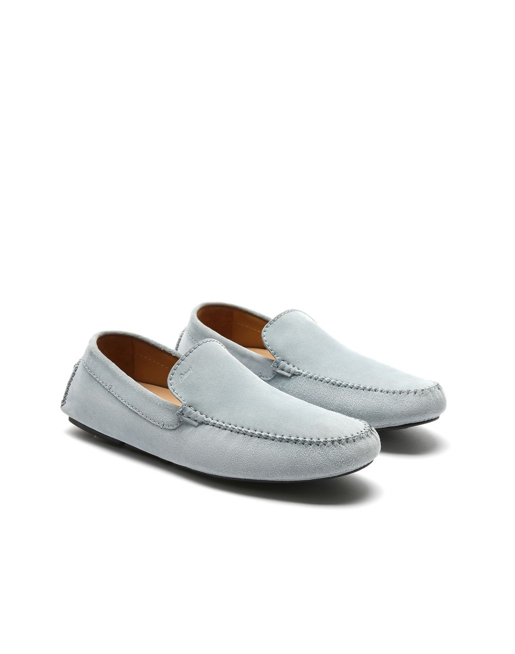 BRIONI Light Blue Suede Driver Shoes Loafers [*** pickupInStoreShippingNotGuaranteed_info ***] d