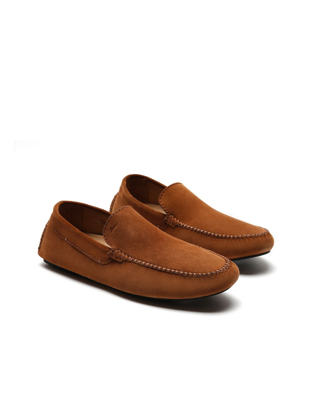 BRIONI Brown Suede Driver Shoes Loafers [*** pickupInStoreShippingNotGuaranteed_info ***] d