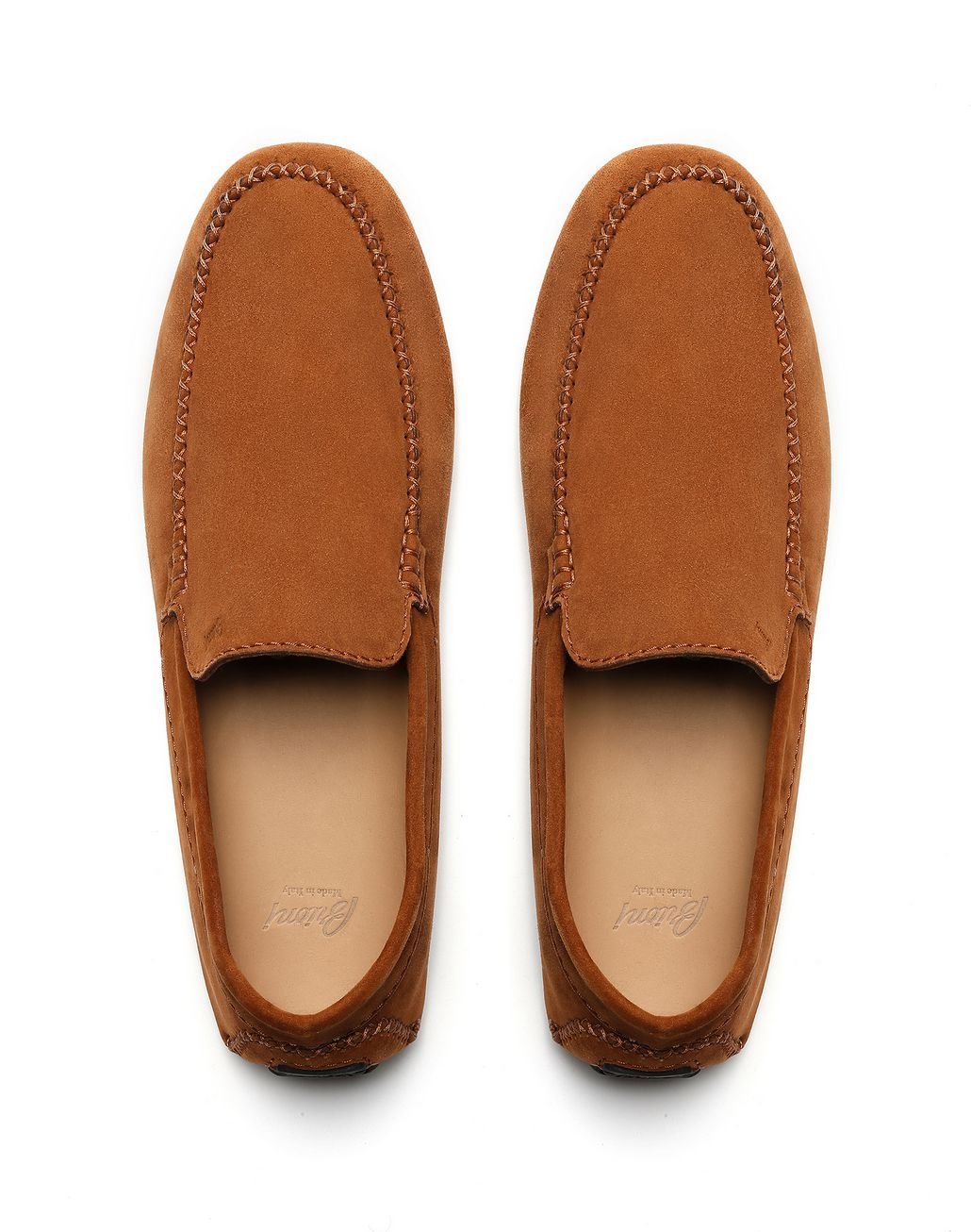 BRIONI Brown Suede Driver Shoes Loafers [*** pickupInStoreShippingNotGuaranteed_info ***] r