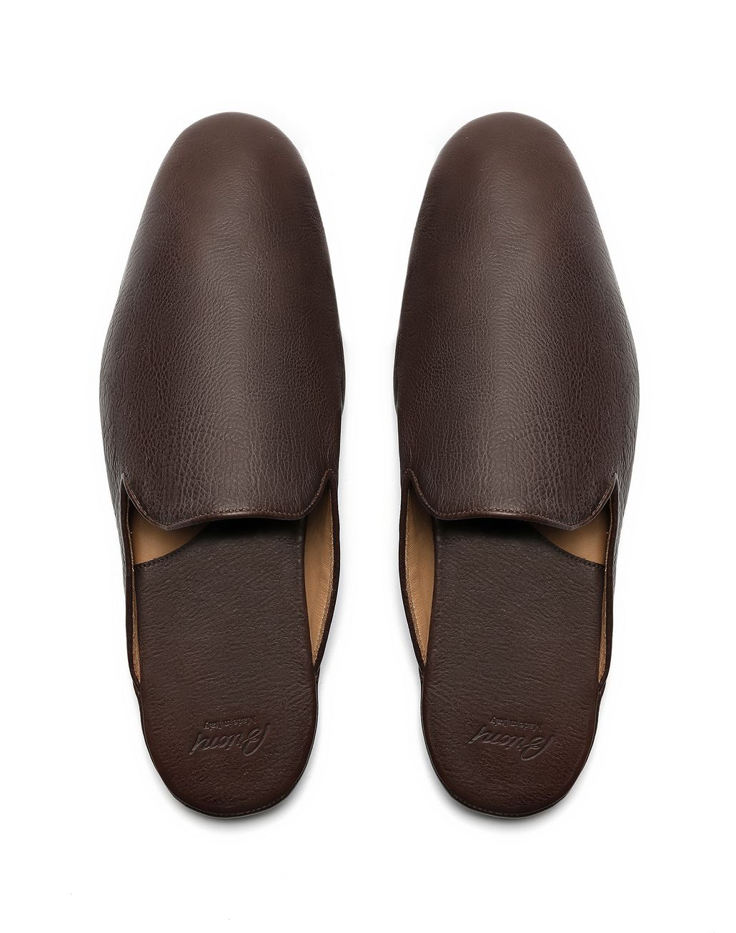 BRIONI Brown Slippers Slippers [*** pickupInStoreShippingNotGuaranteed_info ***] r