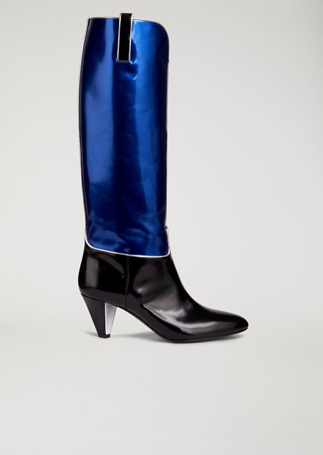 Camperos boots in metallic leather