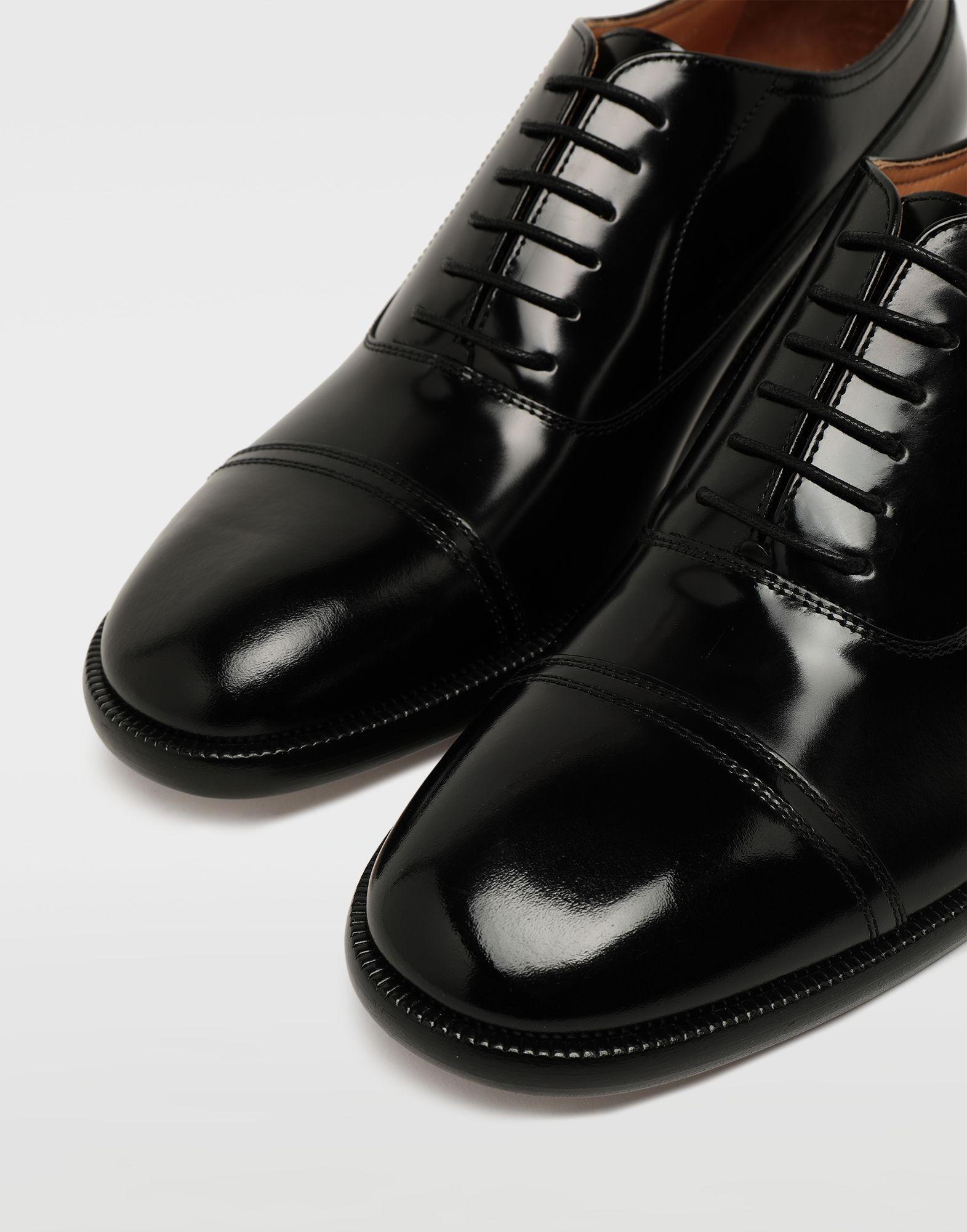 MAISON MARGIELA Brushed leather lace-ups Laced shoes Man e