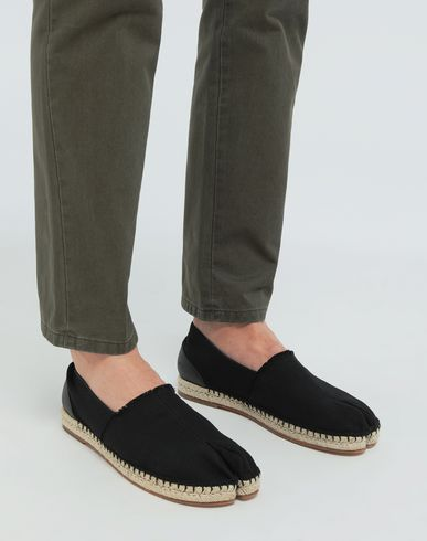 SHOES Tabi cotton espadrilles Black