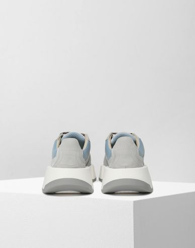 SHOES Runner leather sneakers Light grey