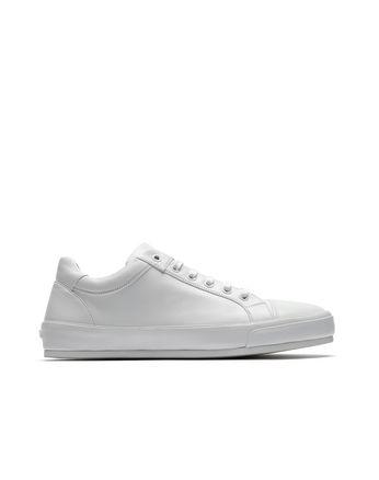 Белые кроссовки из кожи наппа
