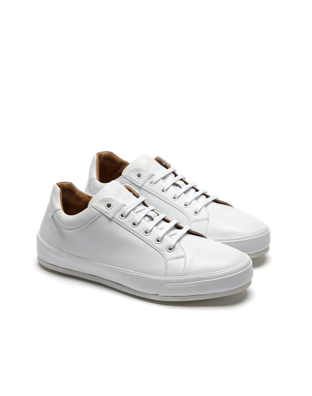 BRIONI White Nappa Sneaker Sneakers Man d