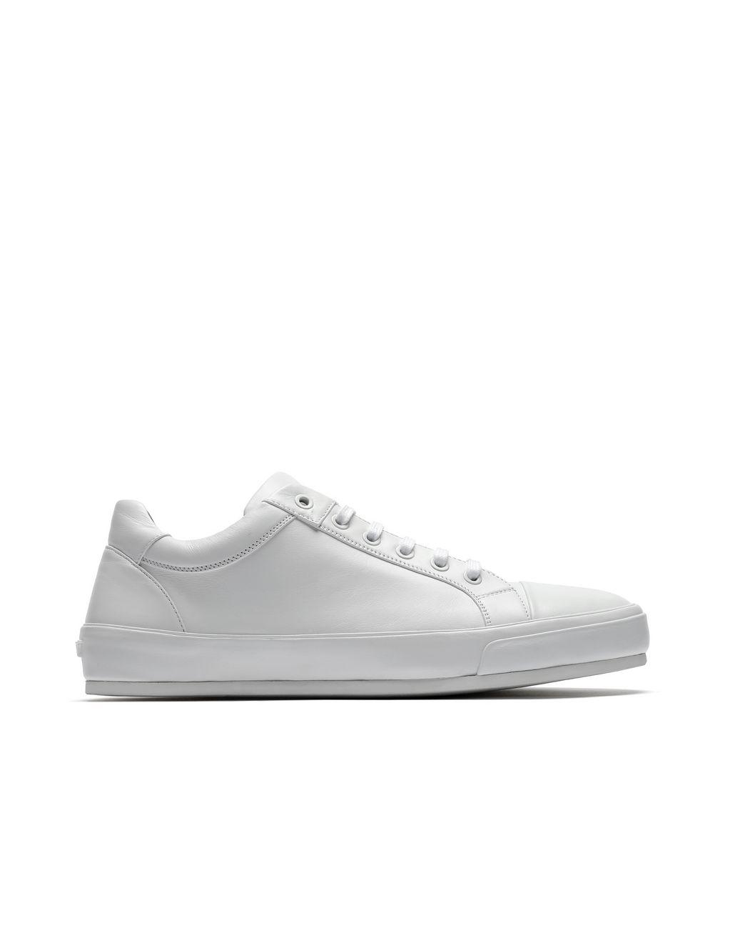 BRIONI Белые кроссовки из кожи наппа Кеды [*** pickupInStoreShippingNotGuaranteed_info ***] f