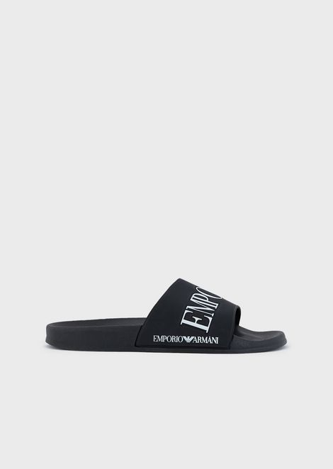 Flip-flops in PVC with logoed strap