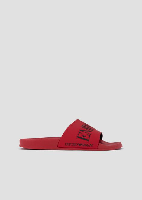 Slides in PVC with logoed strap