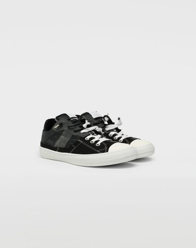 SHOES Spliced low top sneakers Black