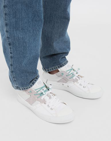 SHOES Spliced low top sneakers White