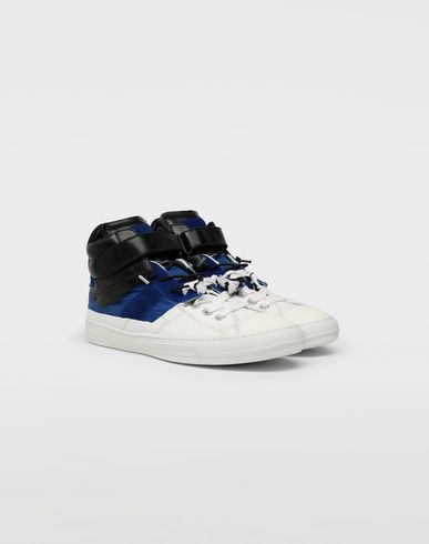 SHOES Spliced high top sneakers White