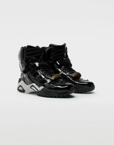 SHOES Retro Fit high top patent sneakers Black