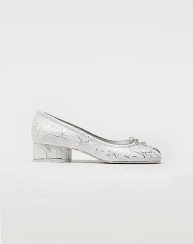 MAISON MARGIELA Ballet flats [*** pickupInStoreShipping_info ***] Tabi leather ballerina pumps f