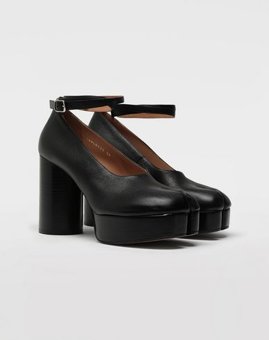 MAISON MARGIELA Closed-toe slip-ons Woman Tabi double strap leather sandals r