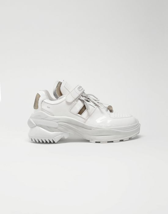 MAISON MARGIELA Retro Fit laminated low top sneakers Sneakers [*** pickupInStoreShippingNotGuaranteed_info ***] f