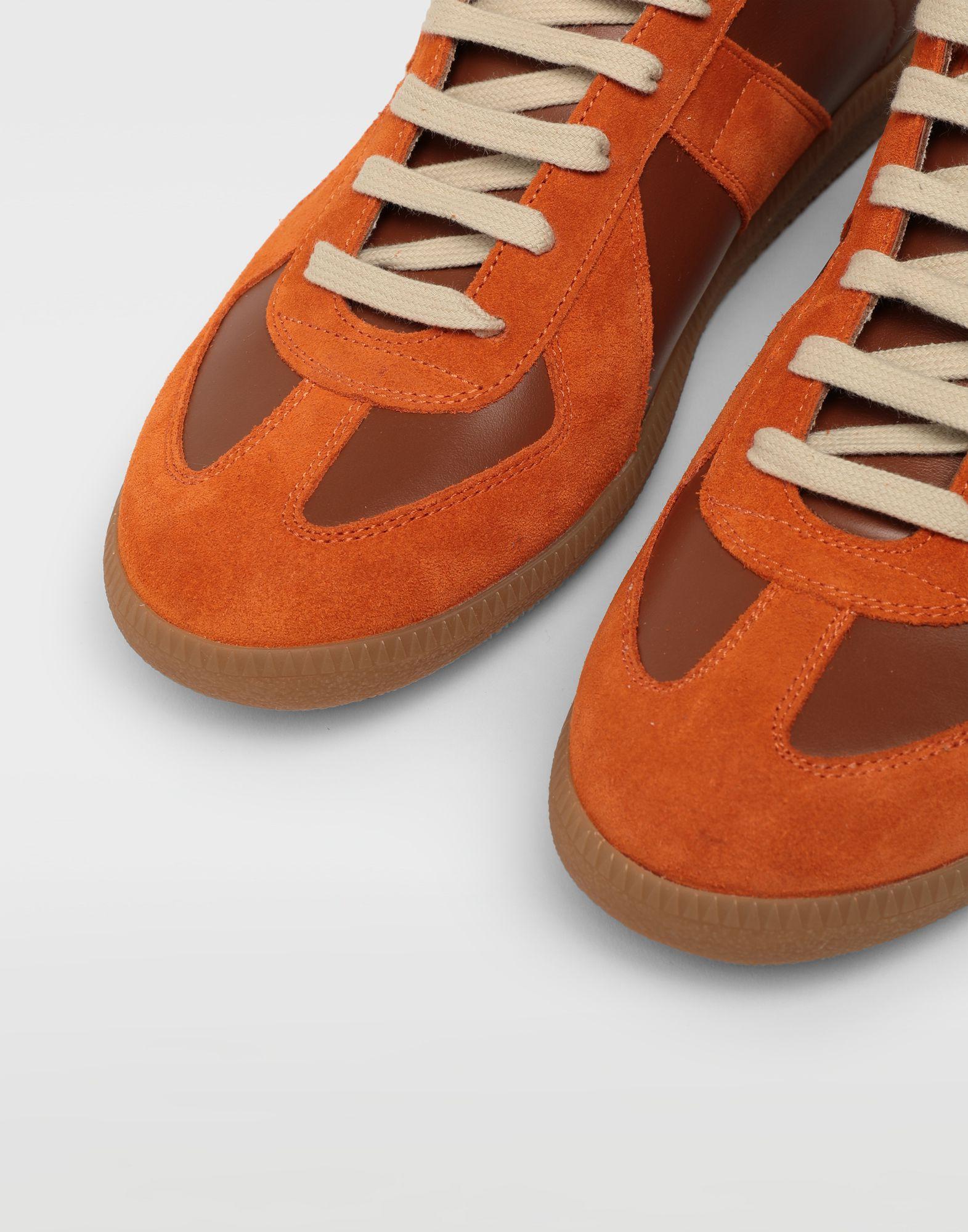MAISON MARGIELA Replica low top calfskin and suede sneakers Sneakers Man e