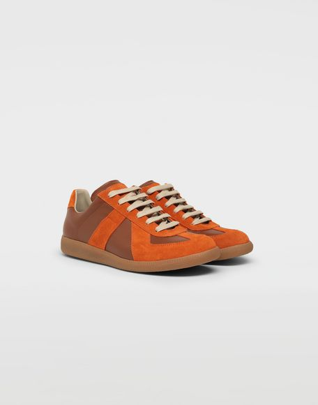 MAISON MARGIELA Replica low top calfskin and suede sneakers Sneakers Man r