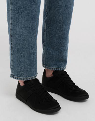 SHOES Replica low top satin sneakers