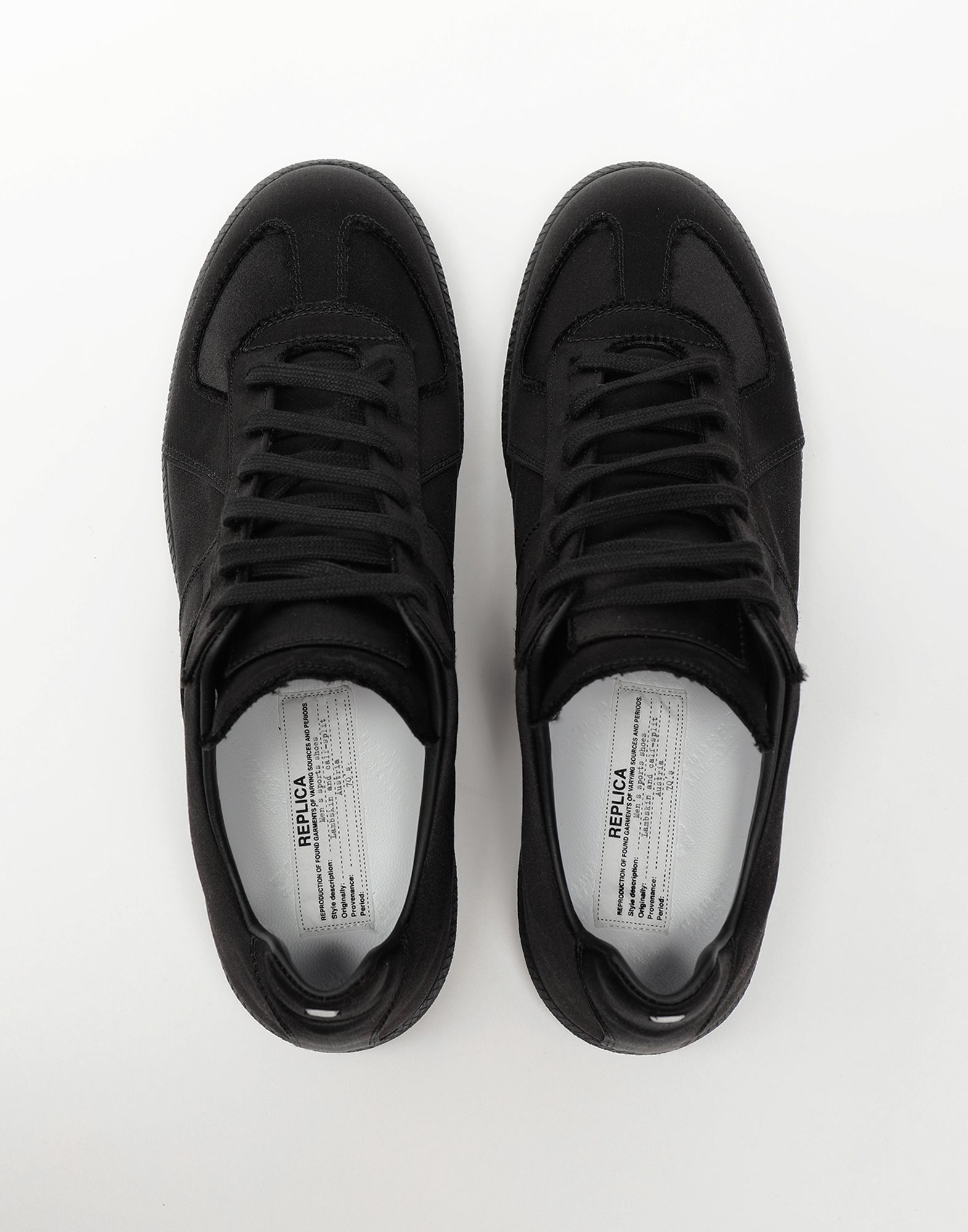 MAISON MARGIELA Replica low top satin sneakers Sneakers Man d