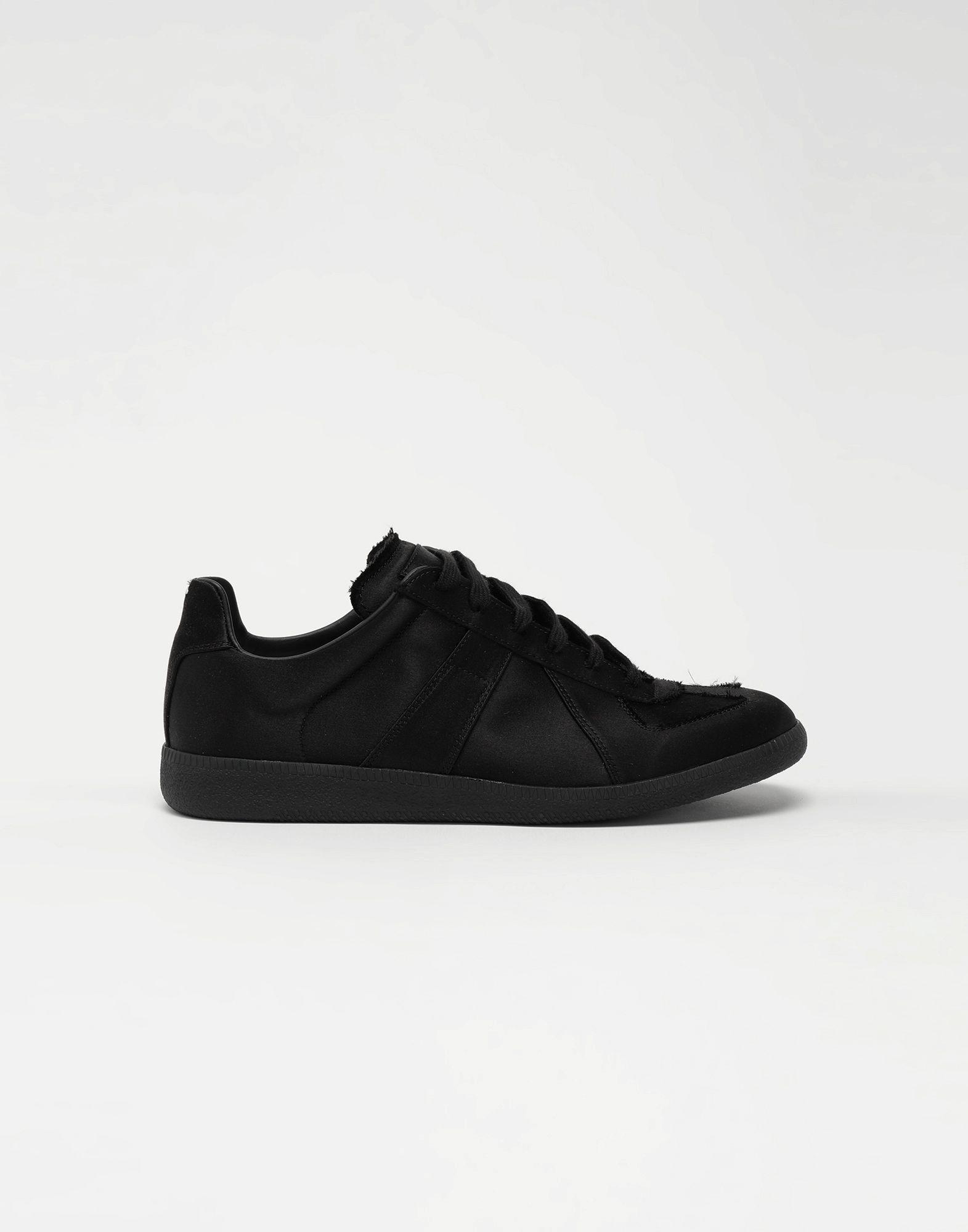 MAISON MARGIELA Replica low top satin sneakers Sneakers Man f