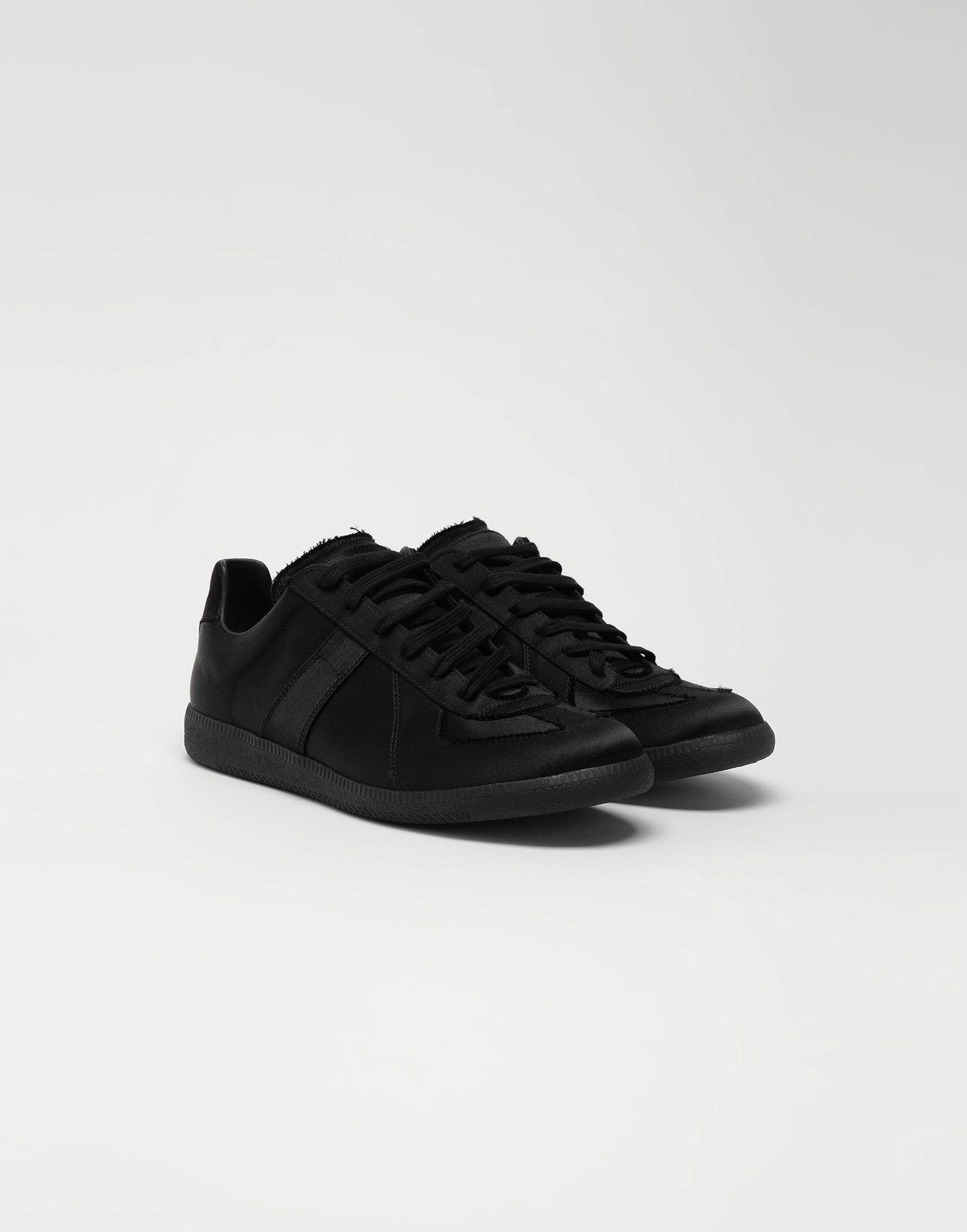 MAISON MARGIELA Replica low top satin sneakers Sneakers Man r