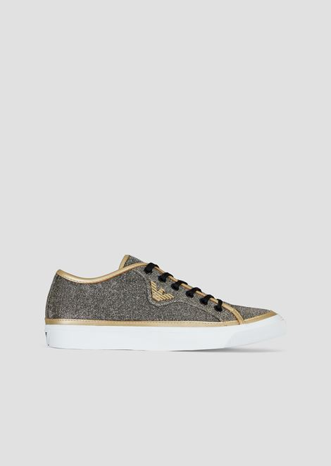 Shimmering animal-print sneakers with Emporio Armani logo
