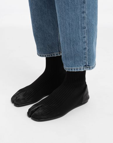 SHOES Tabi Dirty Treatment sock boots Black