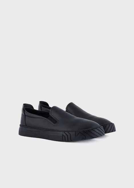 Slip-on sneakers with logoed motif